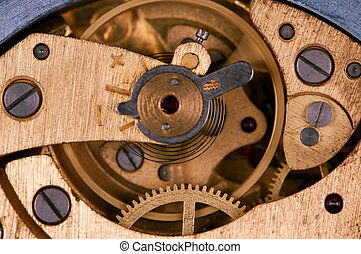 Pocket watch - Close-up of mechanism of old watch Photo...