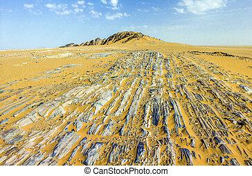 stone desert im Yemen near Marib