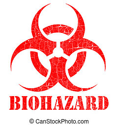 bio hazard stamp illustration over a white background
