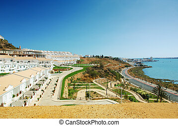 Landscape Ayamonte - Ayamonte town in the border between...