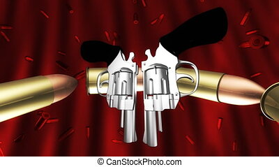 Bullets and Guns Looping Background - Bullets and Guns...