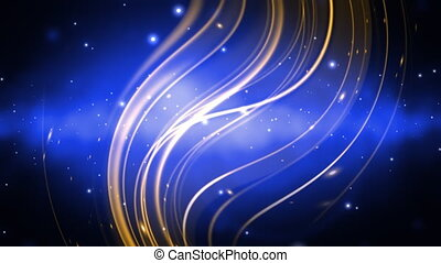 Cosmic Blue and Gold Loop