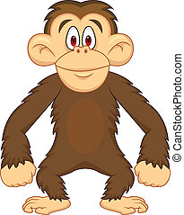 Chimpanzee cartoon - Vector illustration of