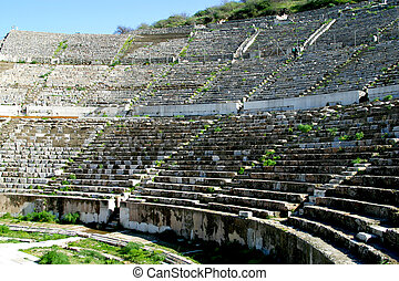 Great Theatre of Ephesus - the Great Theatre of Ephesus,...