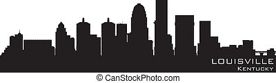 Louisville, Kentucky skyline Detailed vector silhouette