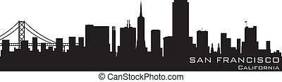 San Francisco, California skyline Detailed vector silhouette...