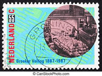Postage stamp Netherlands 1987 Produce Auction - NETHERLANDS...