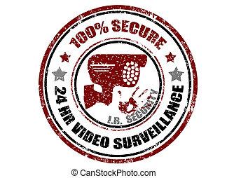 100% secure stamp