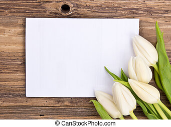 Spring background - Easter greeting card