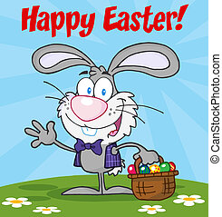 Happy Easter Text %u041Ever Bunny
