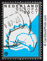 Postage stamp Netherlands 1982 Enkhuizen, Fortification...