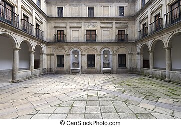El Escorial - Courtyard of the fountainheads; Royal...