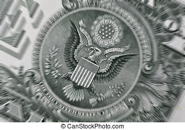 USA Dollar bill closeup