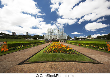 Botanical Gardens in Curitiba, Brazil - A wide angle capture...