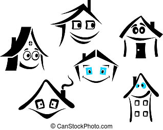 Smiling houses