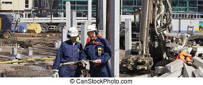 heavy construction machinery - building workers, engineers...