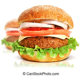grande, hamburguesa