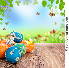 Easter background - Easter still life