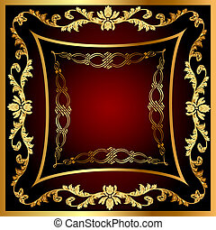 frame with vegetable gold(en) pattern