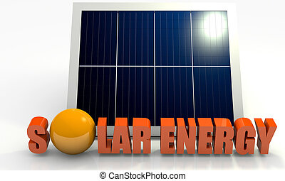 Renewable energy, solar panel - Renewable energy image with...