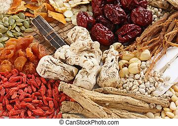 traditionelle, Kräuter, medizinprodukt, chinesisches