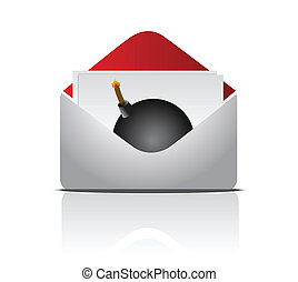 sending an explosive message concept illustration design