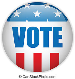 United States Election Vote Button. - Vector - United States...