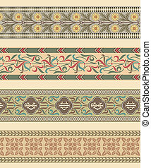 Set of four decorative borders