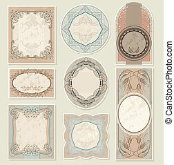 set vintage labels - editable and scalable set vintage...