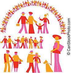set geometric people