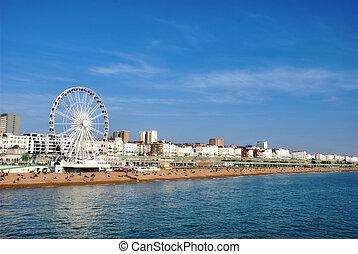 Panoramic View Brighton Beachfront - Panoramic view along...