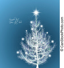 Christmas background with fir-tree Vector illustration