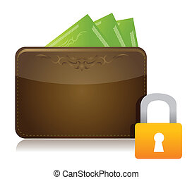Money security concept illustration