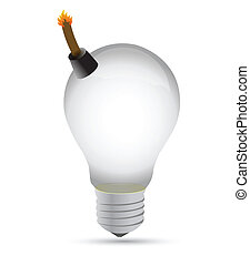 explosive idea lightbulb concept