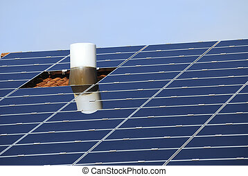 Roof With Solar Collectors
