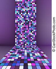 Glowing illustration background. EPS 8