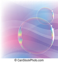 background with soap bubbles