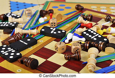 Board games - Various board games and many figurines...