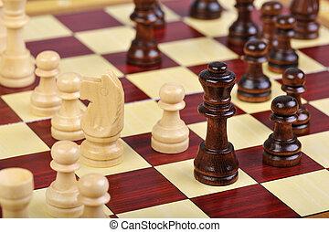 el, juego, ajedrez