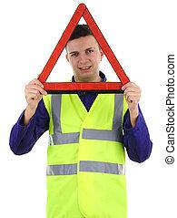hazard warning guy