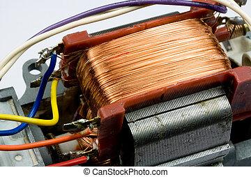 Workings inside Electric Motor - Workings inside small...