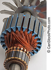 Workings inside Electric Motor - Workings inside small...