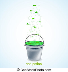 Vector eco potion.