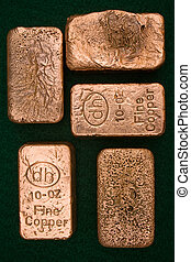 Pure Copper Bullion Bars