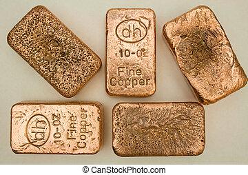 Pure Copper Bullion Bars
