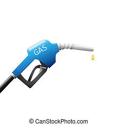 Gas Pump - Image of a gas pump and drop of fuel isolated on...