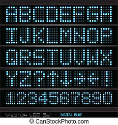 Digital Scoreboard - Image of a colorful digital scoreboard.
