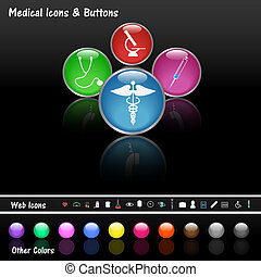 Medical Web Buttons