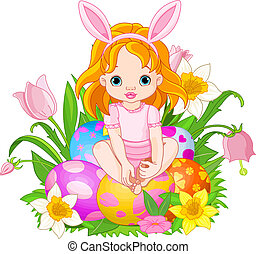 Cute Easter baby girl