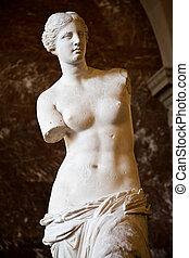 Venus de Milo - Statue of the Greek goddess Aphrodite,...